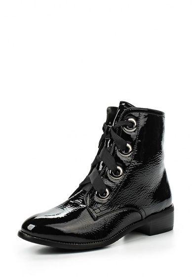 Ботинки Dino Ricci Select выполнены из искусственной лаковой кожи. Детали: застежка на молнию, шн...