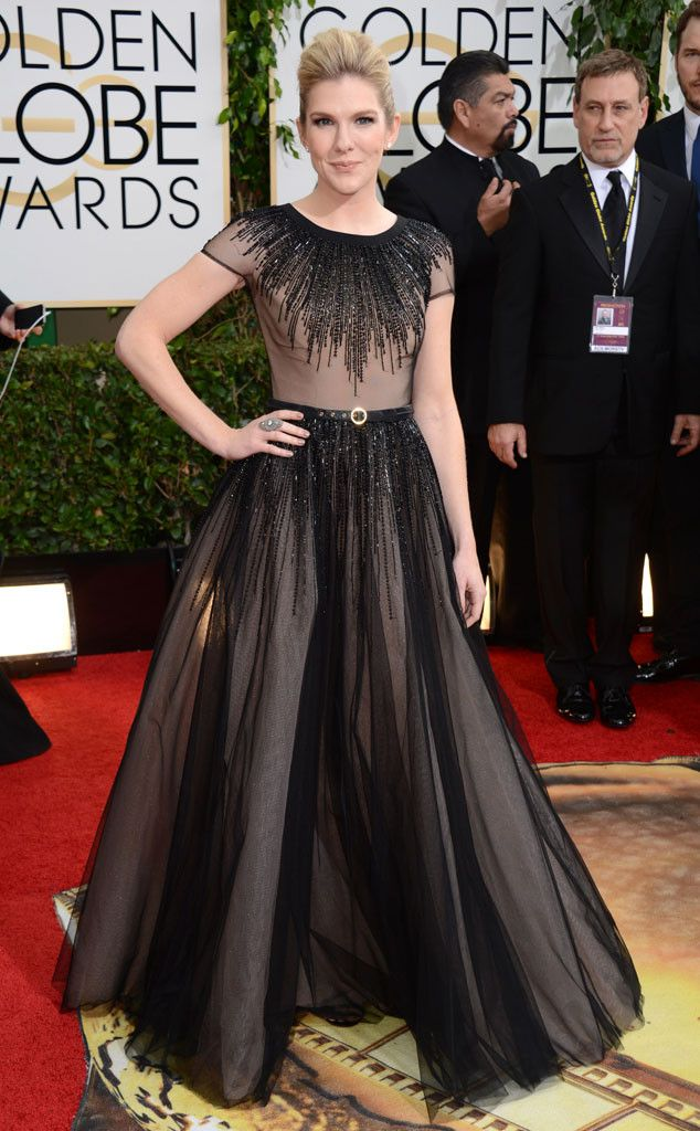 Lily Rabe from 2014 Golden Globes: Red Carpet Arrivals | E! Online | I want to like this but it also somehow reminds me way too much of Gwyneth Paltrow's Oscar gown - -  a giant miss in 2002!