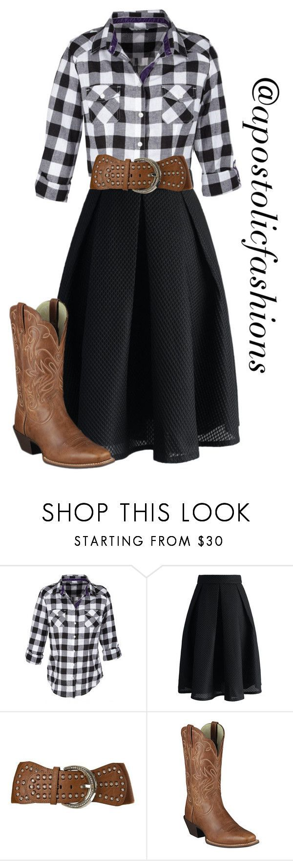 """Apostolic Fashions #1381"" by apostolicfashions ❤️ liked on Polyvore featuring Chicwish, Angel Ranch, Ariat, modestlykay and modestlywhit"