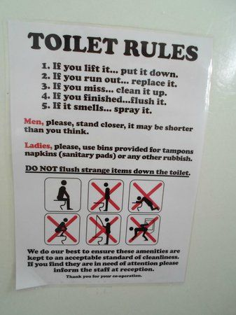 8 best hostel images on pinterest hostel kitchen rules - What do hotels use to clean bathrooms ...