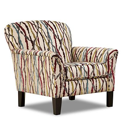 Simmons Amazing Abstract Accent Chair Peacock Living