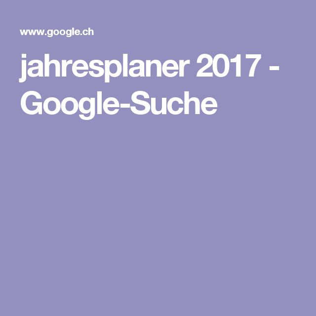 jahresplaner 2017 - Google-Suche