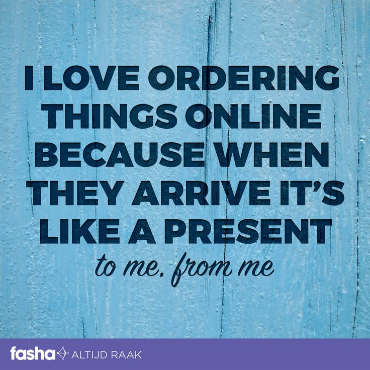 I love ordering things online because when they arrive it's like a present to me, from me.  Shop nu op www.fasha.nl