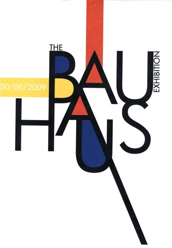 Bauhaus poster by Tom Humphris, via Flickr
