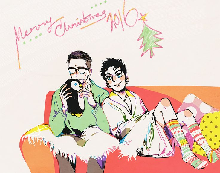 """""""""""That one is not a riddle, Ed."""" """" Hey there, Merry Christmas everyone! (someone asked for a nygmobblepot christmas scene)"""