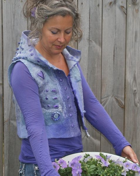 Short felted jacket in lovely shades of purple https://www.facebook.com/AtelierRozevilterije?ref=hl