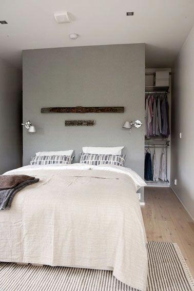 Une t te de lit en cloison de dressing dans une petite - Dressing dans une petite chambre ...