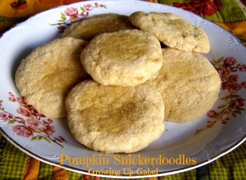 Pumpkin Snickerdoodles ~ Growing Up Gabel