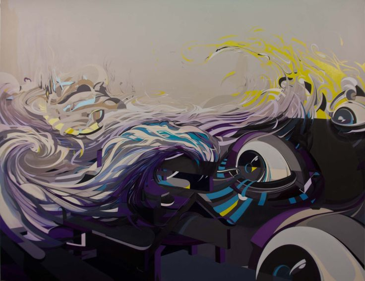 200x150 cm acryl and oil on canvas