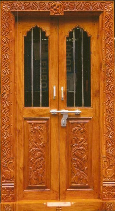 9 Traditional Pooja Room Door Designs In 2020: Latest-pooja-room-door-desi.jpg (400×734)