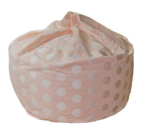 Ahh! Products Delightful Dots Blush Pink Washable Large Bean Bag Chair