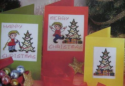 christmas elves elf cards cake band cross stitch charts patterns