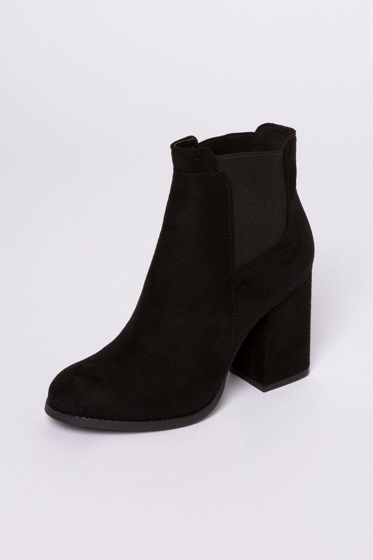 Girls Heeled Vegan Suede Chelsea Boots