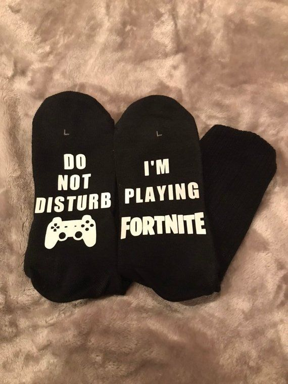 these socks are a cute and fun gift for any fortnite fan black boys crew socks size 3 9 big boys socks have heat treated black boys crew socks disturbing pinterest