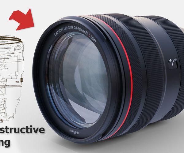 Canon Rf 28 70 F2 0 Blender 2 80 3d Model 3d Model Model Blender