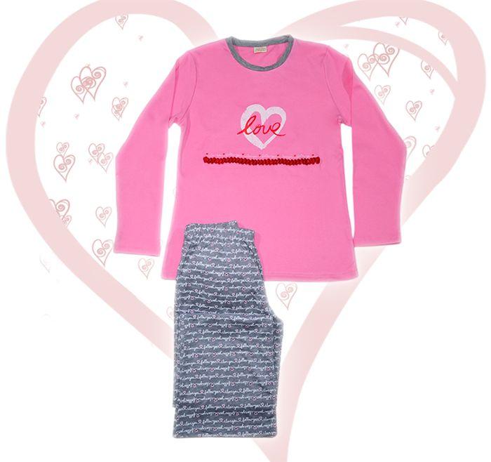 Women's Cotton Pajamas because LOVE is all around ♪♫