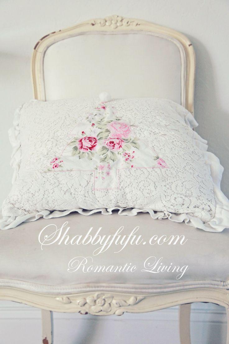 farmhouse chic stripe pillow ticking cecilia floral shabby set bow nettie pillows htm bedding j item girls of custom ruff
