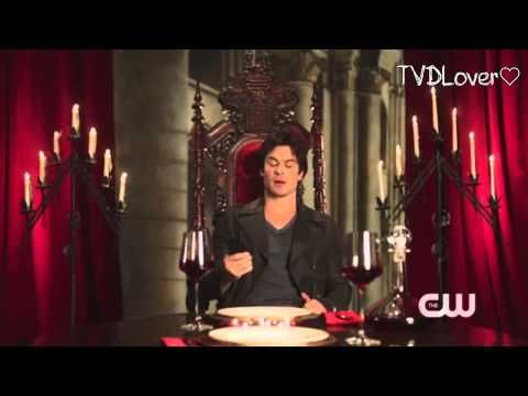 Ian Somerhalder muerde en el juego misterioso (Sub español) - YouTube