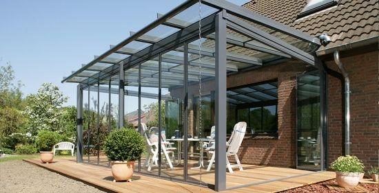 Terrassendach Alu Profil-Glasüberdachung