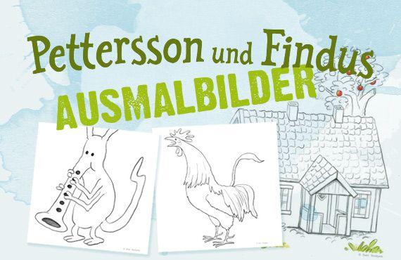Die Website zur Serie von Sven Nordqvist.