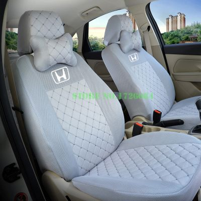 2 front seat Universal Car Seat Cover For HONDA Civic Accord Fit Element Freed Life Zest BLACK/WHTIE/GRAY/RED car accessories