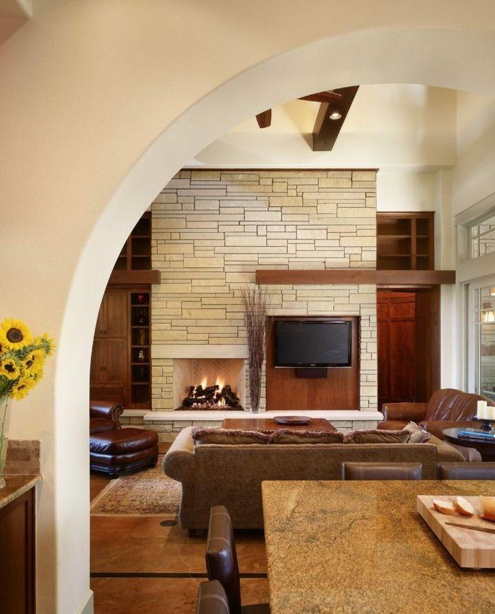 Steinwand Wohnzimmer Kleben | Die Besten 25 Steinoptik Wand Ideen Auf Pinterest Steinoptik