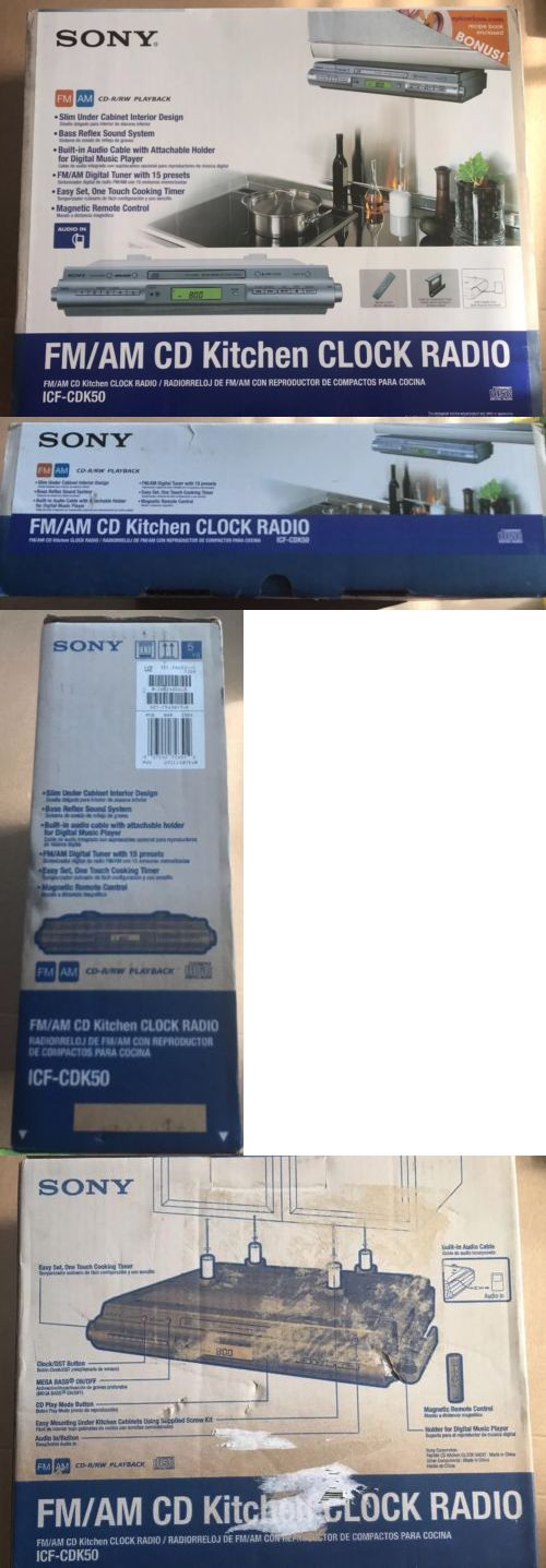 Digital Clocks And Clock Radios New In Box Sony Icf Cdk50 Under Cabinet Radio Kitchen