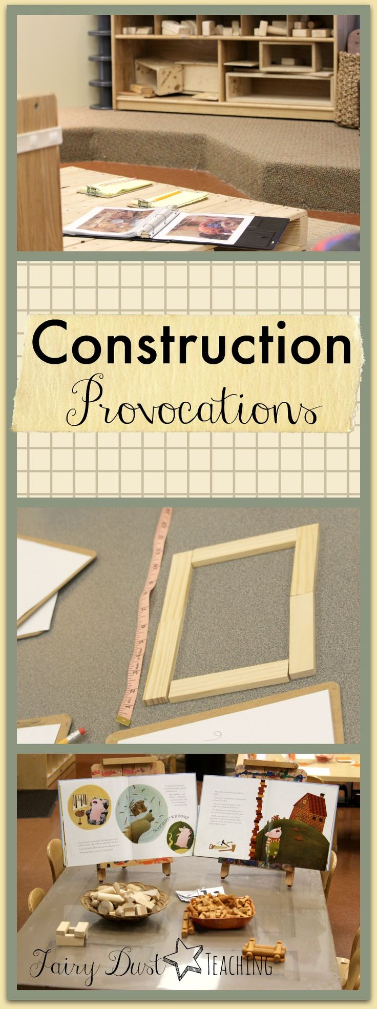 Construction Provocations from Rosa Parks ECEC found at Fairy Dust Teaching.