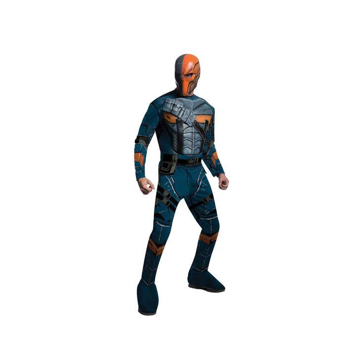 Batman: Arkham Origins Deluxe Deathstroke Costume - Adult, Men's, Size: Medium, Blue