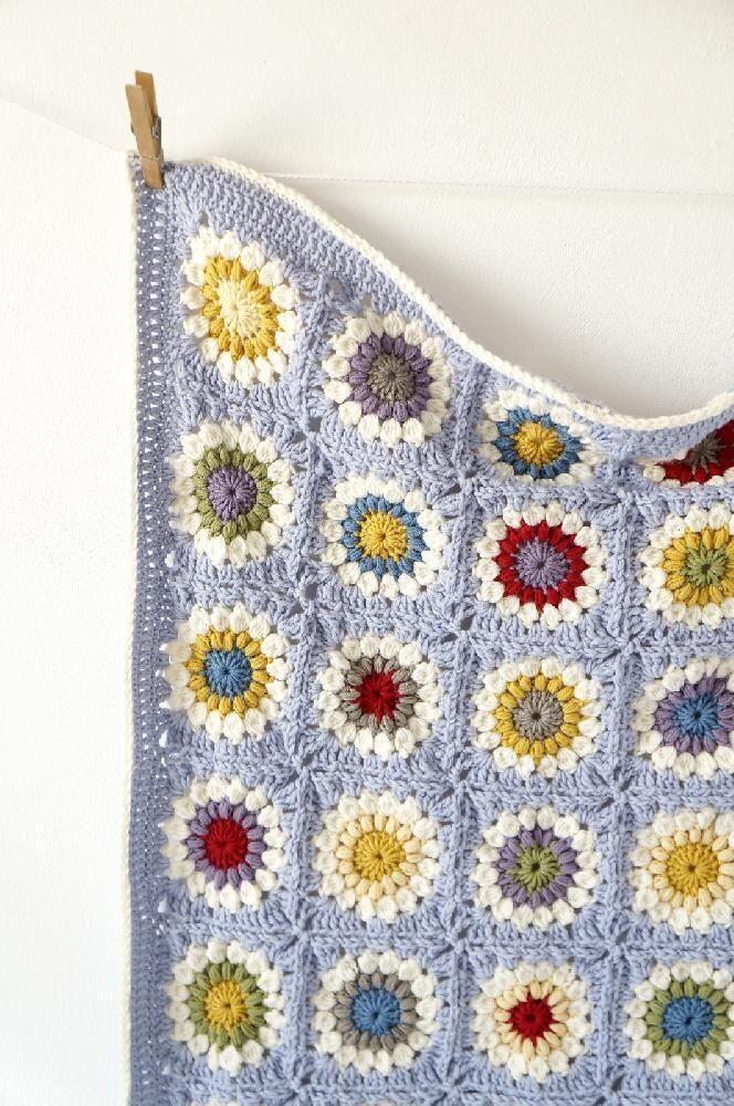 Swaddling Squares Knit Baby Blanket Pattern PDF Download