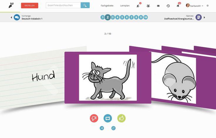 Mit den Karteikarten auf ExamTime spielend leicht Vokabeln lernen oder auch wichtige Daten, Fakten, Formen uvm. https://www.examtime.com/de/karteikarten-online-erstellen/