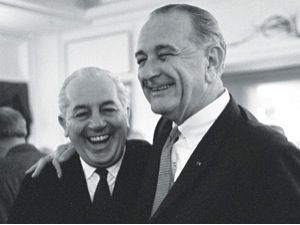 #RemembranceDay Prime Minister Harold #Holt with U.S. President Lyndon B. Johnson in October 1966