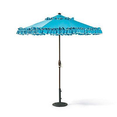 Riviera Aruba Designer Umbrella - Silver - Frontgate
