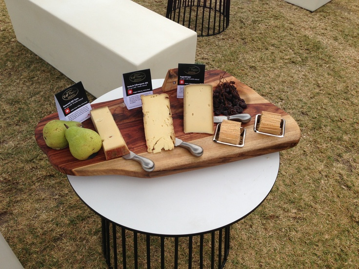 Beeler cheese on the board, ready for the 2012 VIP Gala at Taste of Melbourne