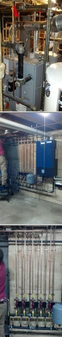 This company provides boiler and power vent water heater installation, drainage…