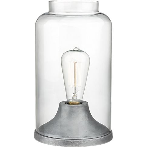 cloche table lamp in table lamps | CB2