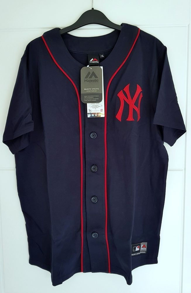 MAJESTIC NEW YORK YANKEES MLB Lipman Baseball Players Jersey Shirt Men s New  M  Majestic 5f7bd179f09