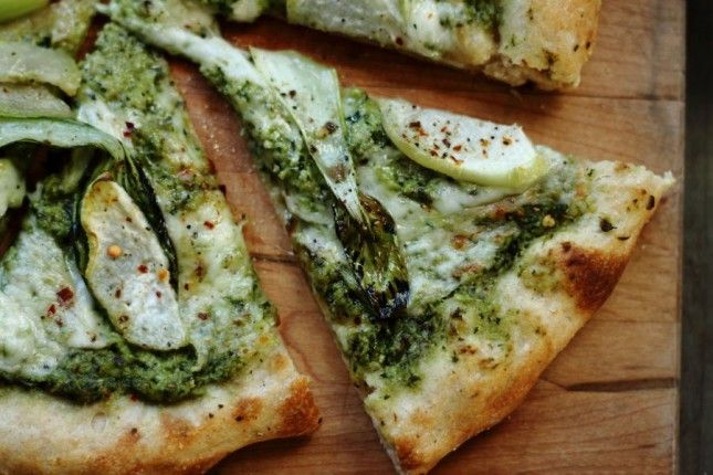 Make Kohlrabi Bok Choy Pizza for dinner.