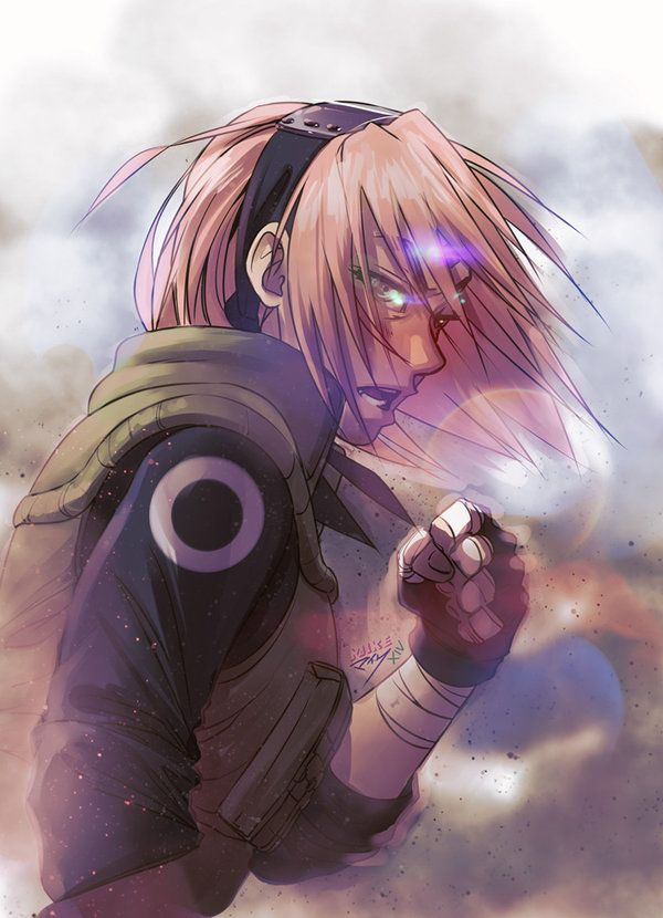 sakura haruno, everybody. grade A badass, yet still human. most realistic character in the whole series, but that's just my opinion.