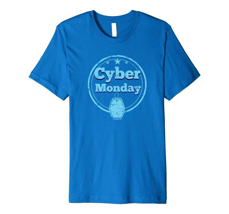 Men Royal Blue Cyber Monday Price Tag Online Shopping T Shirt Medium SHIPS FREE #CyberMondayMadeBetter #VNeck