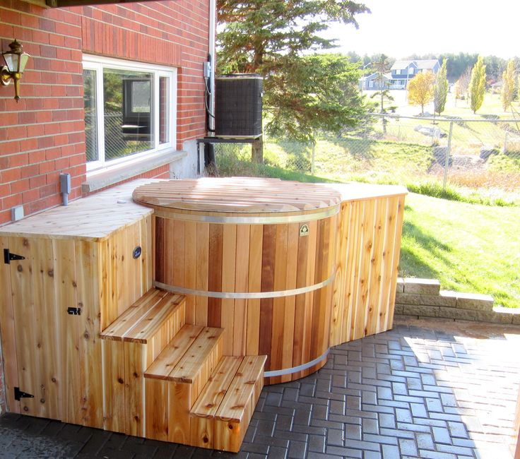 Our Round And Oval Cedar Hot Tub Kits Are Assembled On