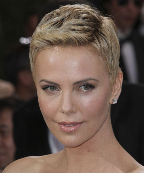medium style hair cut charlize theron casual hairstyle light 3609