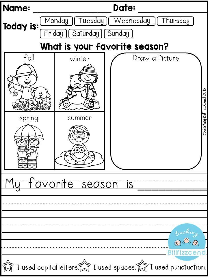 FREE 10 Kindergarten Writing Prompts with 2 option (A total of 20FREE Pages). With sentence starters and without sentence starters for advance writers. This pack is great for beginning writers or struggling writers in kindergarten and in first grade to bu
