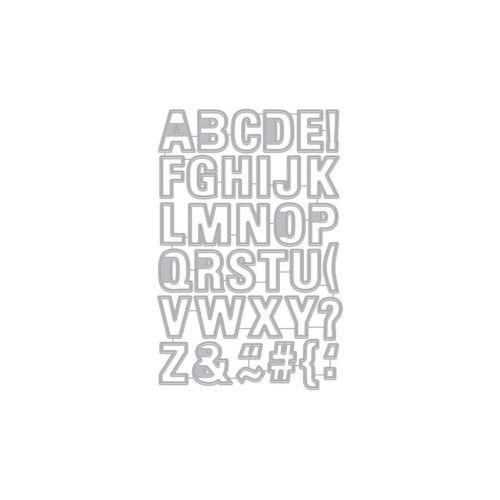 Hero Arts Frame Cuts Dies Luggage Tag Alphabet Frame