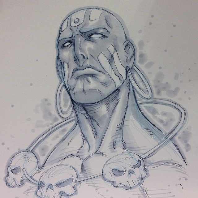 Dhalsim sketch by Alvin Lee