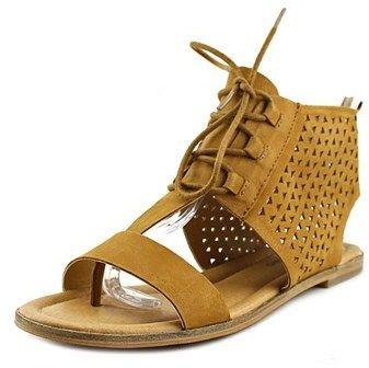 Lucky Brand Baari Women Open Toe Leather Brown Gladiator Sandal.