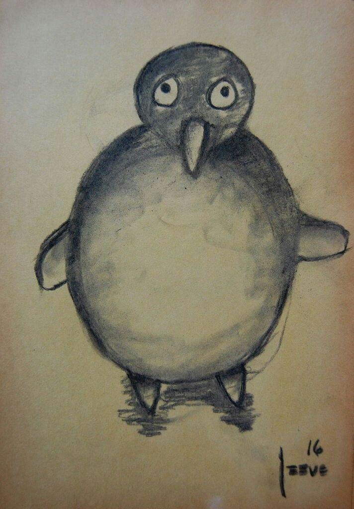 El pequeño Pin. Carboncillo sobre papel. 33x23cms. 2016. Jesús Martínez.