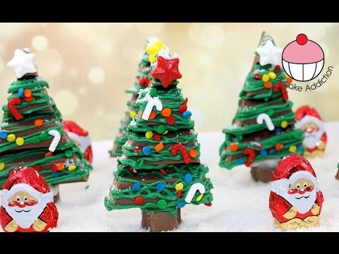 Chocolate Christmas KitKat Forest - No Bake Xmas Dessert with Cupcake Addiction - YouTube