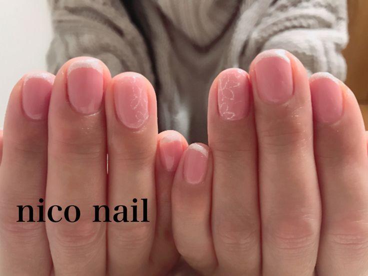 浜松市 中区 自宅ネイルサロン nico nail ニコネイル:シンプルな細フレンチネイル