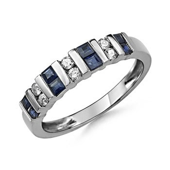Angara Womens Channel-Set Sapphire Diamond Half Eternity Wedding Band 4hkIer1S